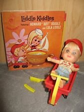 Liddle Kiddles Howard Biff Boddle Doll Complete Set w/ Book wagon comb brush hat