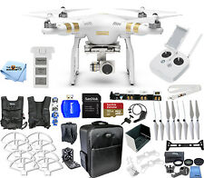 DJI Phantom 3 Professional w/ 4K Camera! PRO READY TO FLY MEGA BUNDLE!