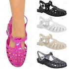 LADIES WOMEN JELLY SANDALS BEACH FLAT FLIP FLOPS RETRO JELLIES BEACH SHOES SIZE