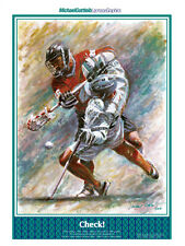 BODY CHECK! Action-Packed Lacrosse Art Poster Print by Michael Gottlieb