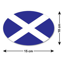 Scottish Saltire Car Sticker / Decal - National Flag of Scotland - Oval 15x10 cm