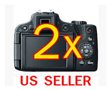 2x Canon PowerShot SX50 HS Clear LCD Screen Protector Guard Shield Film