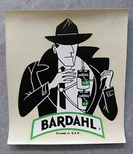 1960's BARDAHL DETECTIVE water slide decal RACING hydroplane boat or Rat Rod
