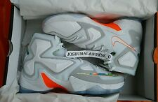 NEW IN BOX NIKE LEBRON JAMES XIII WHITE MANGO EASTER MEN'S SHOE'S SIZE 9