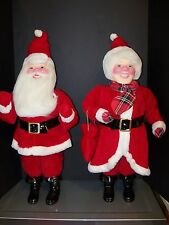 HAROLD GALE SANTA VINTAGE DOLL MRS. CLAUS DISPLAY CHRISTMAS TREE ORNAMENT NEW!!!