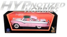 ROAD SIGNATURE 1:18 1955 FORD CROWN VIC W/ TRANSPARENT TOP DIECAST PINK 92138PK