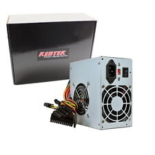 Kentek 600w Watt ATX Computer Power Supply 2 FAN SATA PCI-E Intel AMD