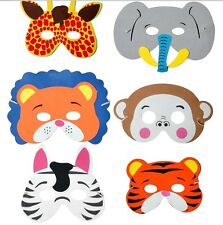 8 kids foam ANIMAL Party MASKS birthday bag toy filler costume fancy dress