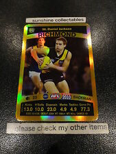 2010 AFL TEAMCOACH GOLD CARD RICHMOND CARD NO.36 DANIEL JACKSON