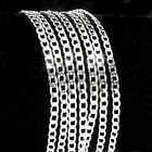 "5pcs Silver Curb Necklace Chain 16""-30"" 2mm Men Jewelry Wholesale"