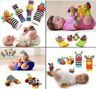 Plush toy rattle baby gift colorful Garden Bug Wrist Rattle+Foot Socks 4pcs/set