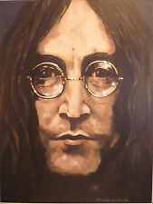 "STUNNING  DON CAMERON ORIGINAL ""John"" The Beatles John Lennon  PAINTING"