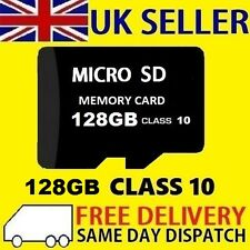 128GB MICRO SD CARD CLASSE 10 TF Flash Memory SDHC - 128G-nuovo Regno Unito