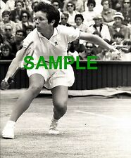 ORIGINAL PRESS PHOTO - WIMBLEDON TENNIS 1970 BILLIE JEAN KING IN ACTION