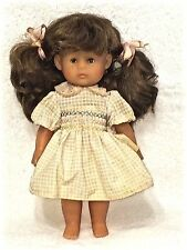 """Cute Little Soft Plastic Corolle 1981 Doll 12"""" Made in France Machine Washable X"""