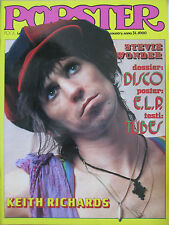 POPSTER 24 1979 Keith Richards EL&P Stevie Wonder Ian Dury Roxy Music Tubes