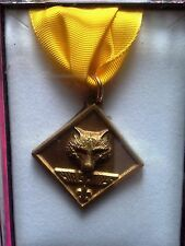Boy Cub Scout Webelos Leader Training Award Uniform Medal Rank BSA