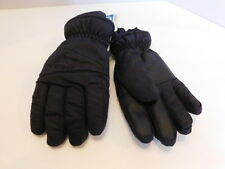 NEW MANZELLA BOYS JU BLACK WATERPROOF WINTER GLOVES THINSULATE LINING SIZE SMALL