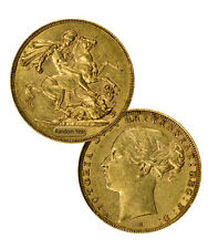 Random Date Britain Queen Victoria Gold Sovereign Young Head 1871-1885 SKU36001