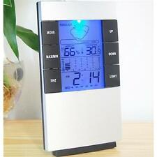 1PC Digital LCD Thermometer Hygrometer Temperature Humidity Meter Gauge Clock