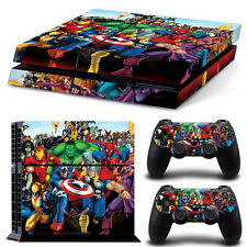 Marvel Avengers Iron Man Hulk Skin Stickers For Sony PS4 Console+ 2 Controllers