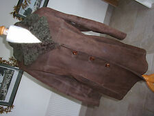 WOOLEA Ladies Genuine Vintage 1970's Brown SHEEPSKIN 3/4 Coat. Chest 38""