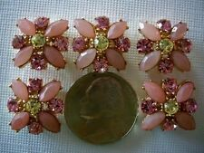 2 Hole Slider Beads X-Flower Light Pink Made With Swarovski Elements #5