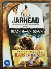 JARHEAD / BLACK HAWK DOWN / TEARS OF THE SUN ~  Box SetWar Film Triple UK DVD