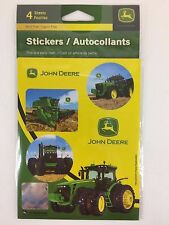 John Deere 4 Sticker Sheet Tractor Theme Birthday Party Favor Supplies Fun Goody