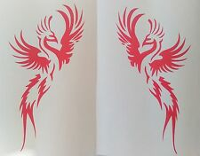 2 x phoenix voiture decal, vinyl, drift sticker, camping-car, caravane, tribal oiseau