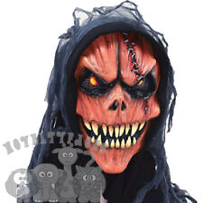 Halloween Scary Evil Pumpkin Monster With Hood Facny Dress Up Latex Horror Mask