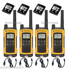 Motorola Talkabout T400 Walkie Talkie 4 Pack Set 35 Mile Two Way Radio NOAA LED