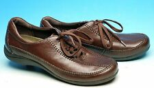 HUSH PUPPIES H55195 BROWN LEATHER OXFORDS CASUAL WALKING SHOES WOMENS 10 N MINT