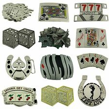 12Pcs Wholesale Belt Buckles Manufacturer Usa Las Vegas Casino Unisex Metal Goth