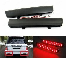 Black Smoked Bumper Reflector LED Rear Brake Stop Light For L322 Range Rover LR2