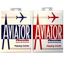 Playing Cards Aviator Pinochle # 918R (1-Case) 12 Decks