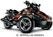 "Can Am Spyder RS RSS GS graphic wrap decal kit ""Dragon"""