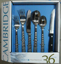 Cambridge Mosaic Sand 18/0 Stainless Flatware Set  36PC spoon fork paypal