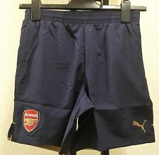ARSENAL F.C  NAVY/GOLD LEISURE SHORTS BY PUMA BOYS 13/14 YEARS BRAND NEW