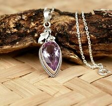 925 Silver Pendant Locket Necklace Real Stone Hand Crafted With Silver Chain