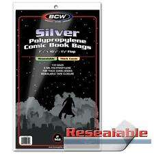 """1 Case of 1000 BCW Resealable Silver Age 7 1/4"""" Thick Comic Book Storage Bags"""