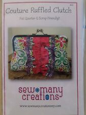 COUTOURE RUFFLED CLUTCH SEWING PATTERN, From Sew Many Creations ON SALE