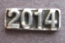 Lot of 10 - 2014 Year Date Stamp Craft Chip Home Made Jewelry - NEW