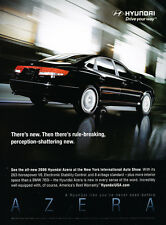 2006 Hyundai Azera breaking -  Original Car Advertisement Print Ad J148