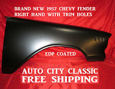 1957 CHEVROLET FENDER RIGHT HAND PASSENGER SIDE WITH TRIM HOLES**FREE SHIPPING**