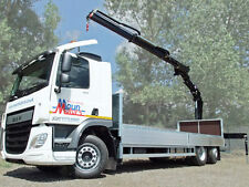 Crane Lorry HIRE - 26 ton Dropside Rear Mount Hiab/HMF Truck Loader - Self Drive