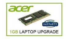 1 GB di memoria RAM UPGRADE PER ACER ASPIRE ONE A110 A150 e ZG5 ZG8 Netbook Laptop