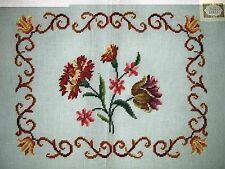 EP 3432/2 Vintage Preworked Border Carnation Floral Needlepoint Canvas
