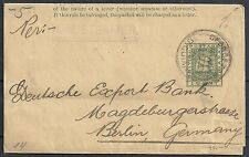 British Guyana Journalwrapper R.M.STEAMER to Berlin