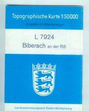 Topographische Karte L 7924 Biberach an der Riß mit Wanderwegen 1:50.000